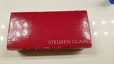 Vintage Steuben Art Glass Candy Cane Collectible VG- Cond with Box Rare