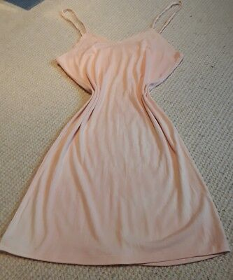 Vintage 1940s CC41 Slip Pink Rayon Utility WW2 Deadstock Reenactment  lingerie