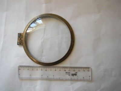 Antique Cast Brass Clock Bezel Convex Glass Bevelled
