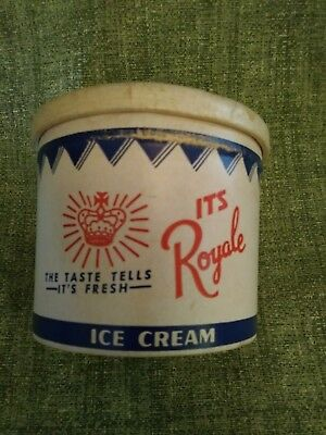 Vintage ROYALE DAIRY pint ice cream container no lid Lewistown PA Mifflin Co PA