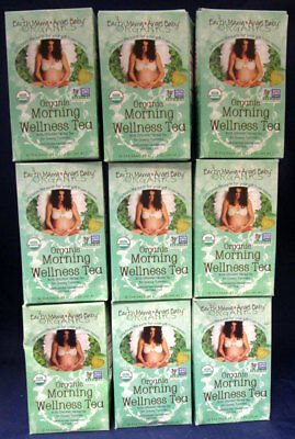 Earth Momma Angel Baby Organic Morning Wellness Tea 16 Bags (9 boxes in Lot)