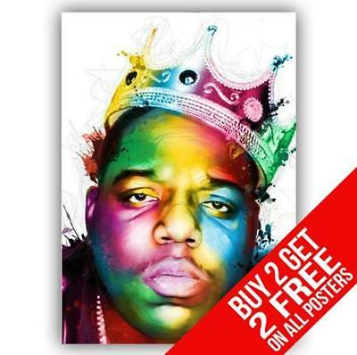 Biggie Smalls Notorious B.i.g Poster Art Print A4 / A3 - Buy 2 Get Any 2 Free