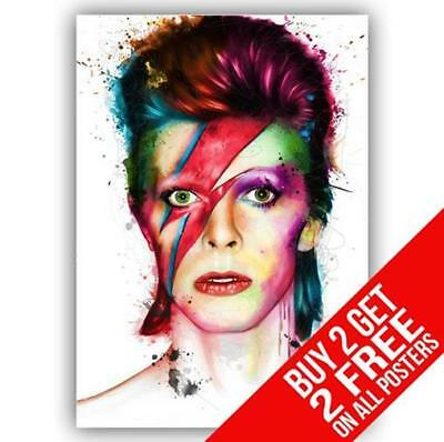 David Bowie Ziggy Stardust Poster Print Art A4 / A3 Size - Buy 2 Get Any 2 Free