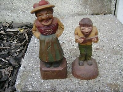 vintage collectible wooden  hand carved hand painted figures Anri ??