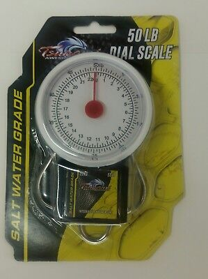 TSUNAMI 50 LB Dial Scale Fish Scale and Tape Measure Saltwater Grade