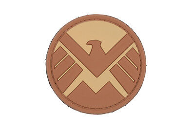 Airsoft morale patch 3D Shield  Badge tan hook and loop Marvel Avengers
