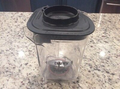 Vitamix Blending Station Advance Container Jar Dairy with black lid, blade 48oz