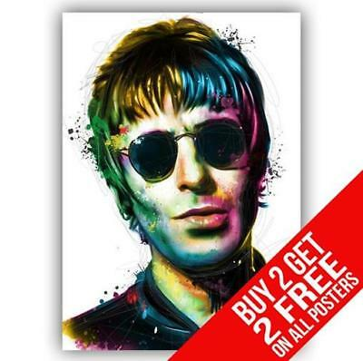Liam Gallagher Oasis Poster Art Print A4 / A3 Size - Buy 2 Get Any 2 Free