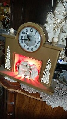 Vintage United Clock Company Brooklyn NY fireplace mantle electric