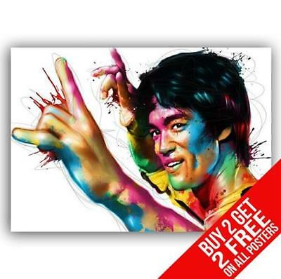 Bruce Lee Dragon Poster Art Print A4 / A3 Size- Buy 2 Get Any 2 Free