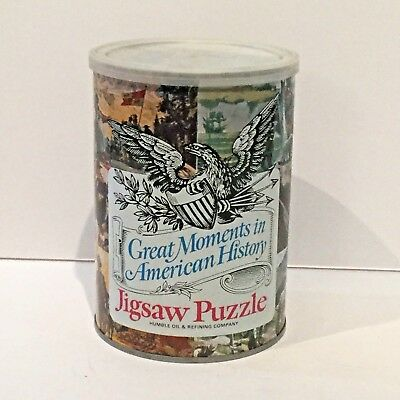 """Vintage 1969 Humble Oil """"Great Moments In American History"""" Puzzle Paul Revere"""