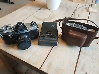 Collection of Vintage Cameras - Kodak, Pentaflex, Agfa