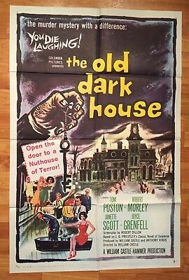 1963 - THE OLD DARK HOUSE - William Castle ORIGINAL POSTER 27x41 1 Sheet