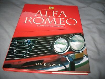 Alfa Romeo book Always With Passion English 160pg by Owen 1999