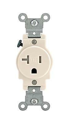 Leviton T5020-T Light Almond Single Outlet Receptacle 20A