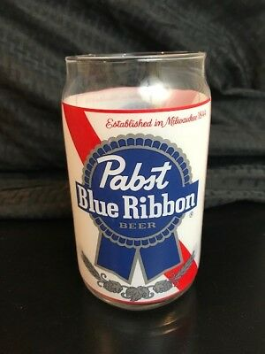 Pabst Blue Ribbon Beer Can Glass PBR