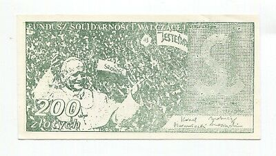 Poland Banknote Solidarity - Green Pope   200 zl