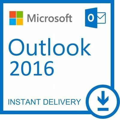 Ms Microsoft Outlook 2016 32/64 Genuine Product Key - Instant Email Delivery