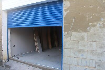 "Electric Security Roller Shutter - 10' (3.05m) wide  x 8' 2 "" (2.5m) high, Blue"