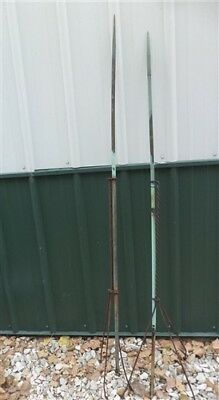 2 Lightning Rods Copper Weathervane Finial No Arrow Ball Vintage Barn Farm gg