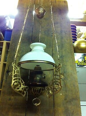 victorian rise and fall oil lamp