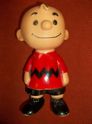 Vintage Vinyl Charlie Brown 1958 United Feature Syndicate Squeeze Figure Doll