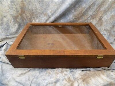 30 x 20 Wooden Glass Showcase Counter Top Country Store Jewelry Display Case