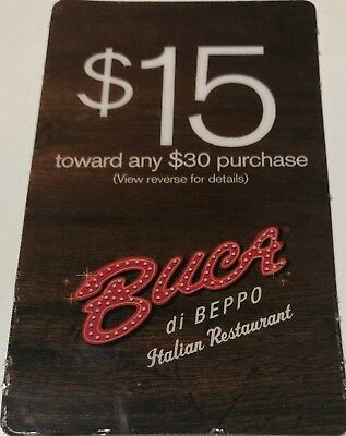 picture relating to Buca Di Beppo Coupons Printable named BUCA DI BEPPO Coupon $15 Off Any $30 Obtain Expires 10/28/2018