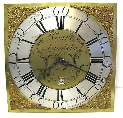 Early Brass Longcase Dial & Movement by Corrie of Langholm.