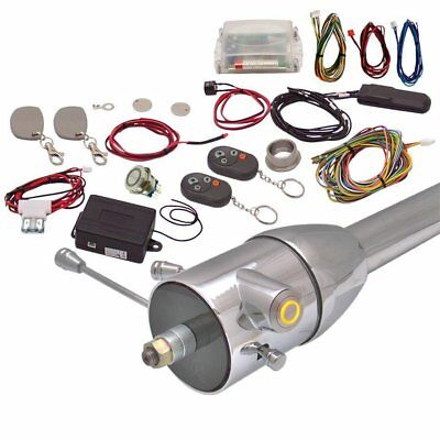 Yellow / Amber One Touch Engine Start Kit with RFID Column Insert and Remote