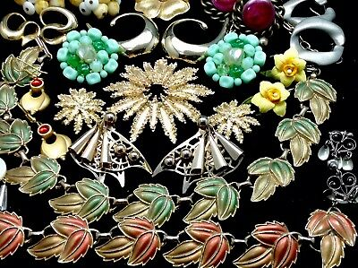 Lot Of Beautiful Vintage Costume Jewelry Coro, D'orlan, Tancer, W. Germany (E33)