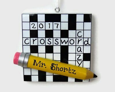 NAME PERSONALIZED CHRISTMAS TREE ORNAMENT Crossword Crazy Puzzle Collectible