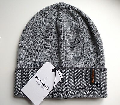 Brand New BEN SHERMAN Smoked Pearl Grey BEANIE Hat Toque OSFA UNISEX AUC35