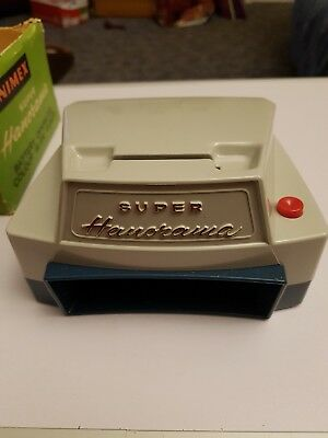 Vintage Hanimex Super Hanorama Battery Operated Colour Slide Viewer 1963