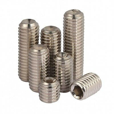 M5 M6 Allen Head Socket Hex Set Grub Screw Cup Point 304 A2-70 Stainless Steel