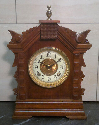 Antique Ansonia Bracket Clock with 1882 Patent 8-Day Movement