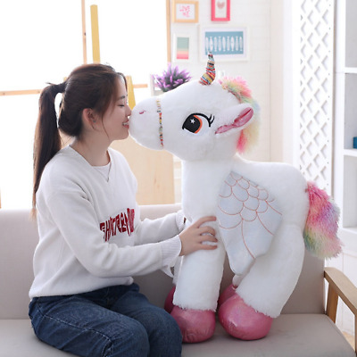 NEW 50cm/60cm/90cm Giant Unicorn Plush Toy, Large Unicorn Gift - In 3 Colours