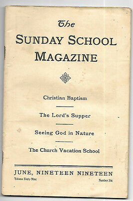 6 vintage issues of The Sunday School magazine from 1910 - 1919
