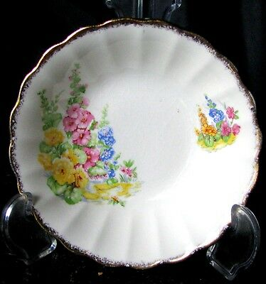 Johnson Brothers Hollyhock Fruit Nappy, Holly Hock Fruit Bowl Sovereign Potters