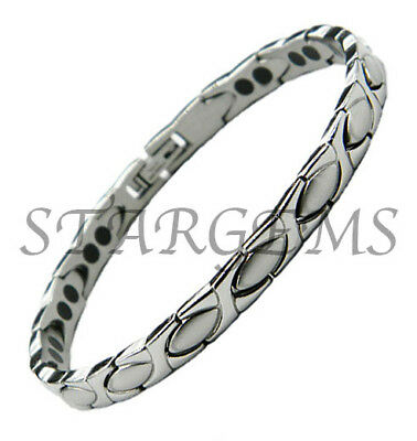 Ladies Arthritis Aid Pain Releif Magnetic Titanium Bracelet Energy Bio Bangle
