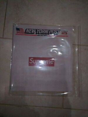 New York Post - Supreme Edition - Mint Condition - plus logo sticker -UK based