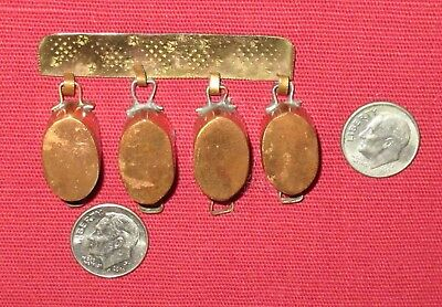 Artisan/hand Made 4 Hanging Copper Pots Miniature Doll House Dollhouse