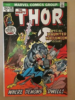 The Mighty Thor #207 1972, Marvel Comics Fine condition