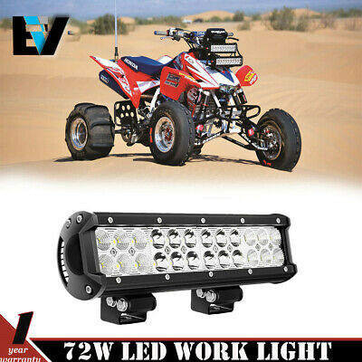 "12"" 72W Led Light Spot/Flood Yamaha WARRIOR 350 Raptor 250 Rhino Viking Banshee"