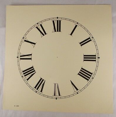 LARGE clock paper faces VINTAGE Roman numerals INGRAHAM ANSONIA GILBERT?