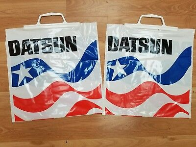 1960 's - 1970's  Datsun US Plastic Shopping Bag wv5864 mint condition lot of 10