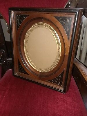 Ornate Antique Eastlake Victorian Deep Well Picture Frame 15 x 17
