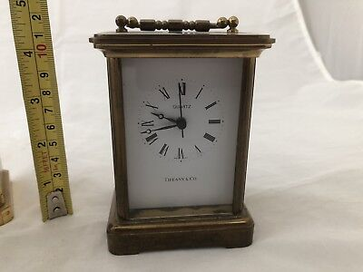 VTG Tiffany & Co CARRIAGE Clock Swiss Movement Battery Operated