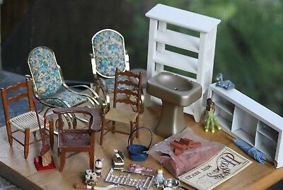 Dollhouse Miniature One Inch Scale 1:12 Mixed accessories Lot Nice size