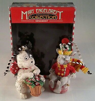Mary Engelbreit Christmas Ornaments - A Black-And-White Dog And A Gray Mouse
